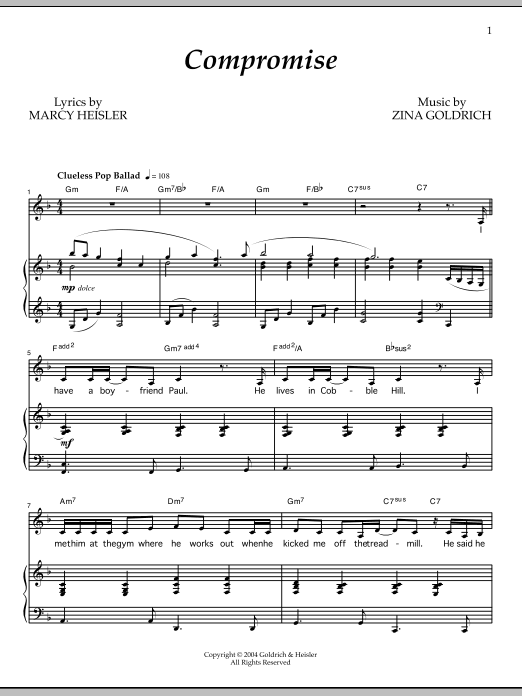 Compromise Sheet Music