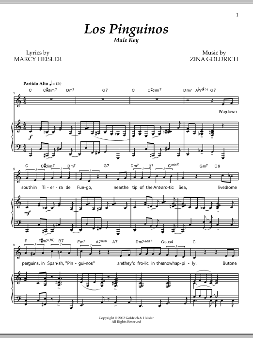 Los Pinguinos (Male Key) Sheet Music
