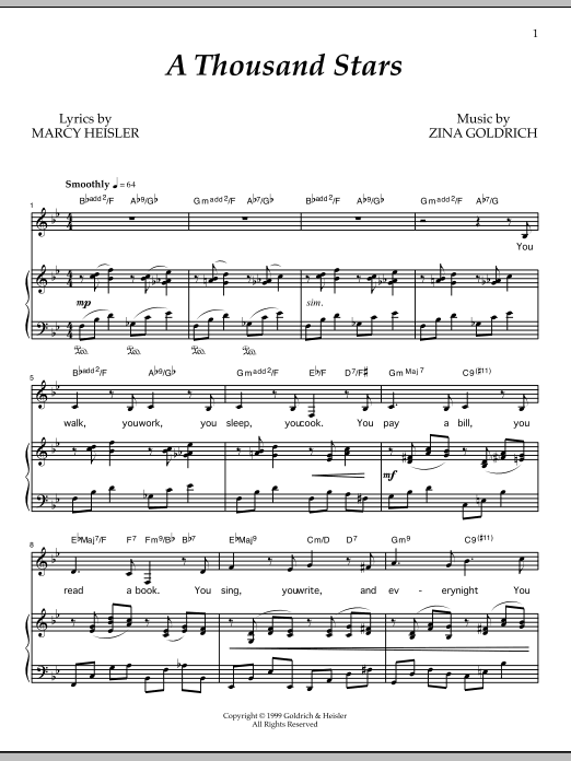 A Thousand Stars Sheet Music