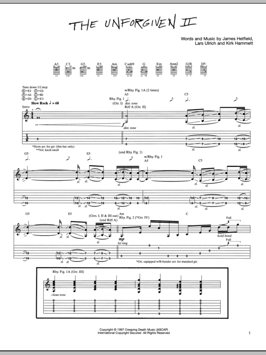 The Unforgiven II Sheet Music