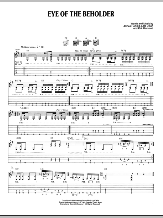 Eye Of The Beholder Sheet Music