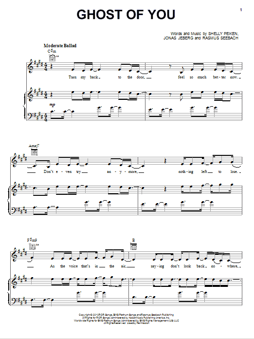 Ghost Of You Sheet Music