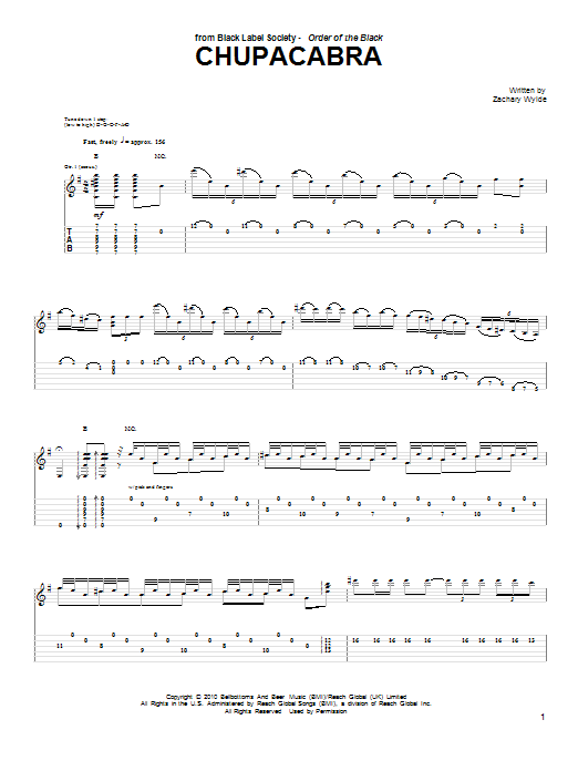 Chupacabra Sheet Music