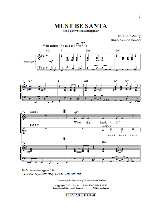 Must Be Santa (2-Part Choir)