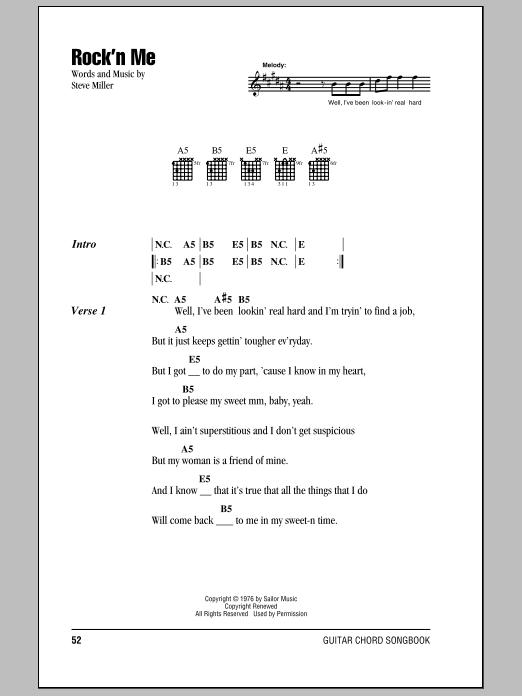Rock'n Me (Guitar Chords/Lyrics)