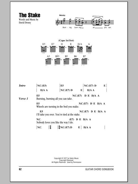 The Stake Sheet Music