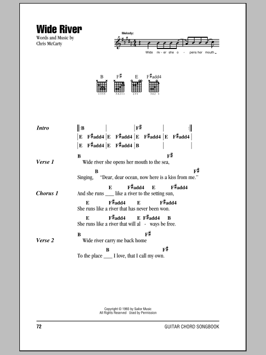 Wide River Sheet Music