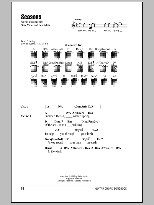 Seasons Sheet Music Direct