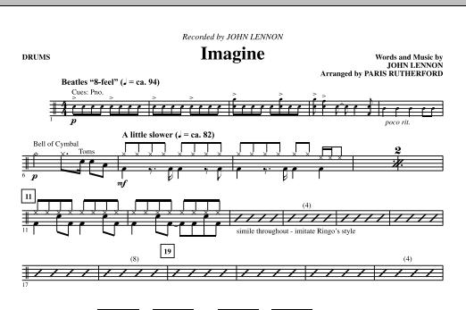 Imagine - Drums (Choir Instrumental Pak)