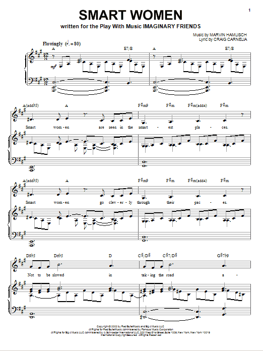 Partition piano Smart Women de Craig Carnelia - Piano Voix