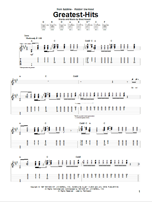 Greatest-Hits Sheet Music