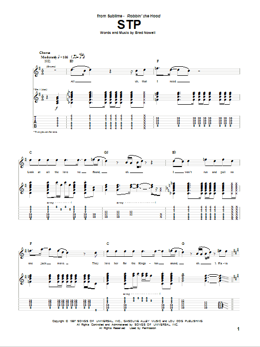 STP Sheet Music