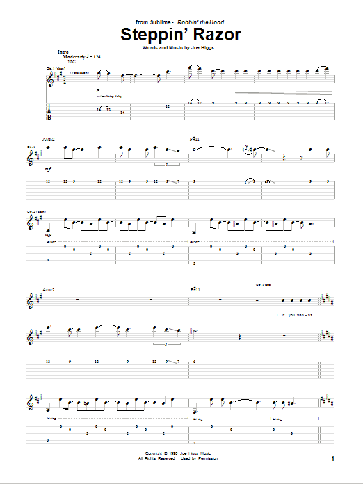Steppin' Razor Sheet Music