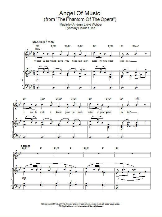 Angel Of Music (from The Phantom Of The Opera) Sheet Music