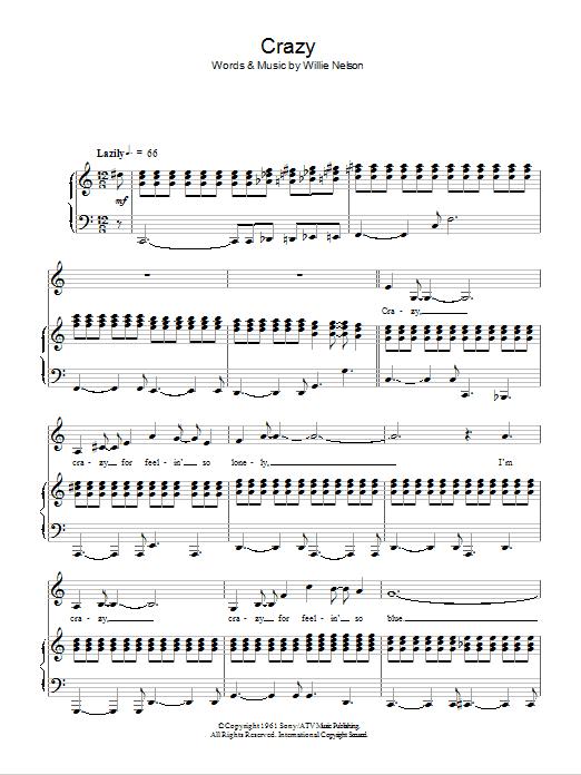 Crazy (Piano & Vocal)