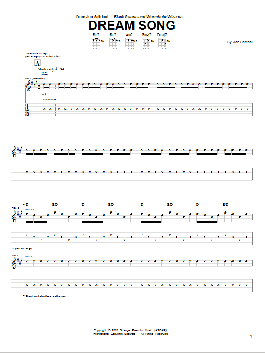 Dream Song (Guitar Tab)