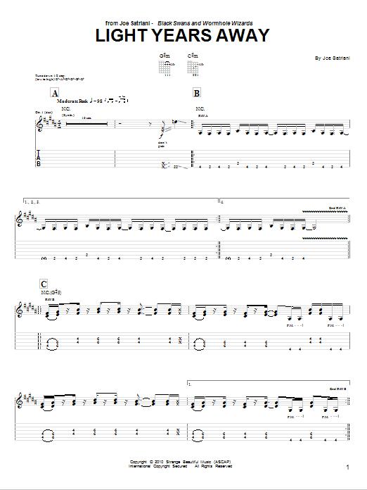 Light Years Away Sheet Music