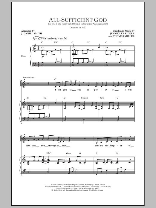 All-Sufficient God Sheet Music