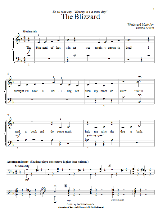 The Blizzard Sheet Music