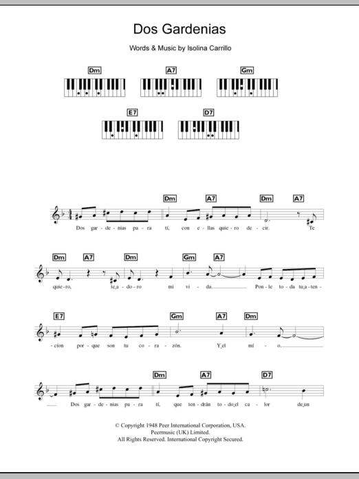 Dos Gardenias Sheet Music