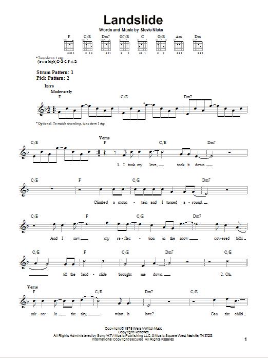 Landslide Sheet Music Direct