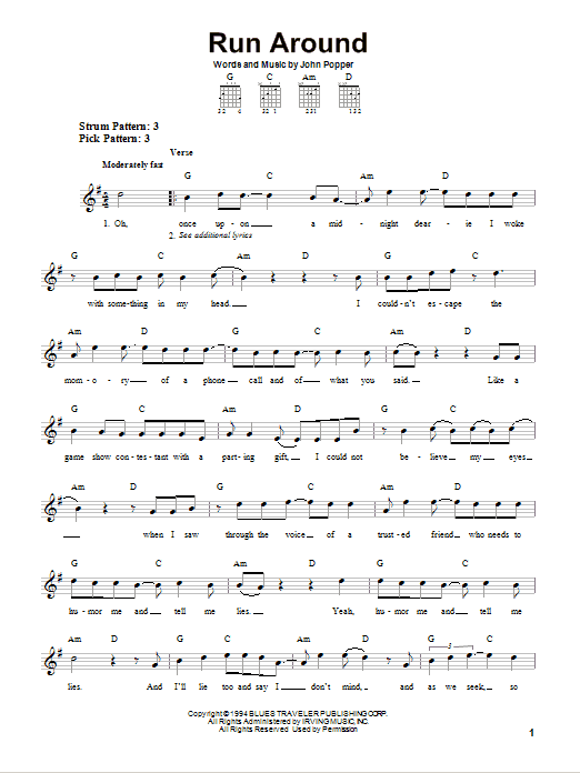 Run Around Sheet Music