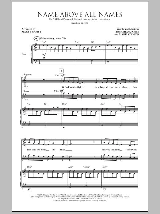 Name Above All Names (SATB Choir)