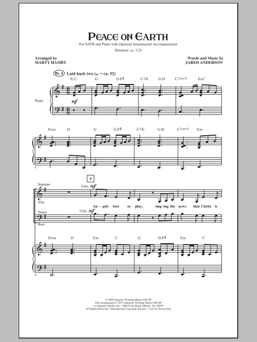 Peace On Earth Sheet Music