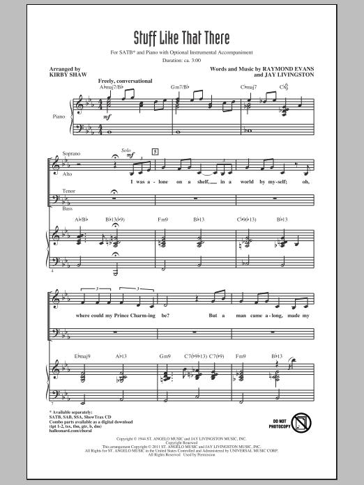 Stuff Like That There (SATB Choir)