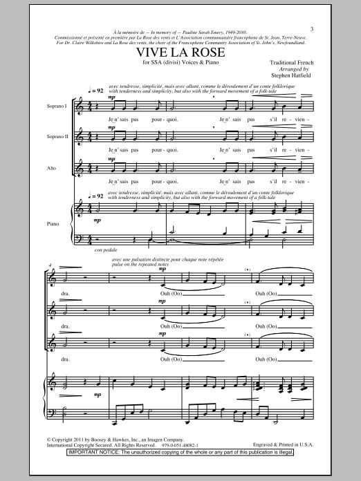 Vive La Rose (SSA Choir)
