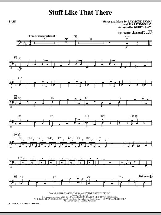 Stuff Like That There - Bass Sheet Music