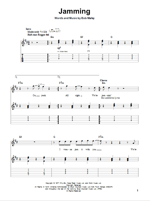 Jamming Sheet Music
