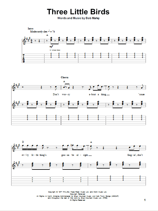Three Little Birds | Bob Marley | Guitar Tab Play-Along