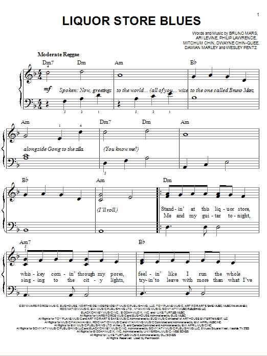 Liquor Store Blues Sheet Music