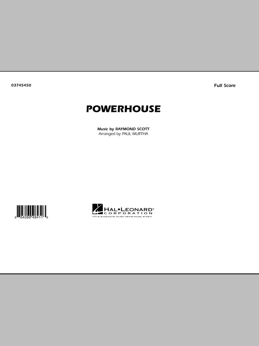 Powerhouse (COMPLETE) sheet music for marching band by Raymond Scott and Paul Murtha. Score Image Preview.