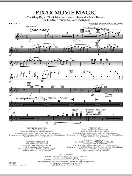 Pixar Movie Magic - Piccolo (Concert Band)