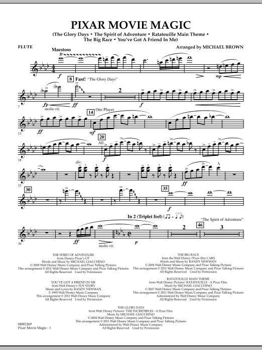Pixar Movie Magic - Flute (Concert Band)
