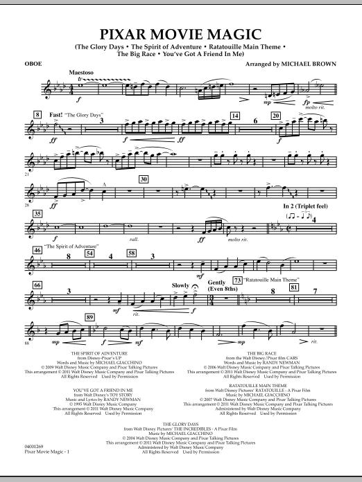 Pixar Movie Magic - Oboe (Concert Band)