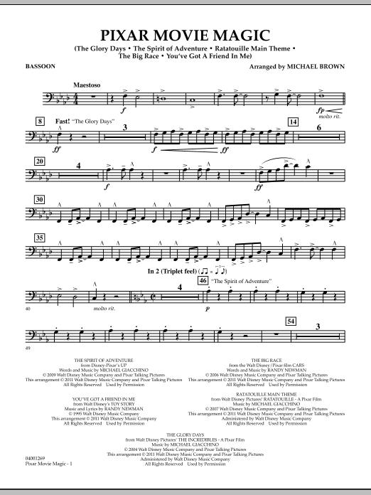 Pixar Movie Magic - Bassoon (Concert Band)