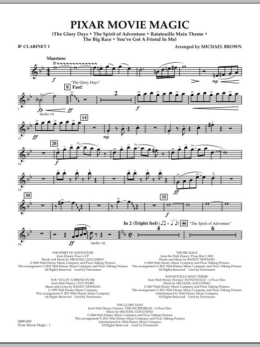 Pixar Movie Magic - Bb Clarinet 1 (Concert Band)