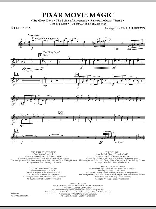Pixar Movie Magic - Bb Clarinet 2 (Concert Band)