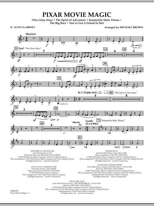 Pixar Movie Magic - Eb Alto Clarinet (Concert Band)