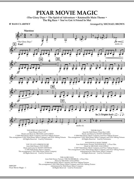 Pixar Movie Magic - Bb Bass Clarinet (Concert Band)