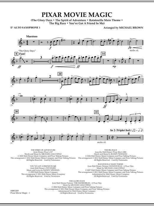 Pixar Movie Magic - Eb Alto Saxophone 1 (Concert Band)