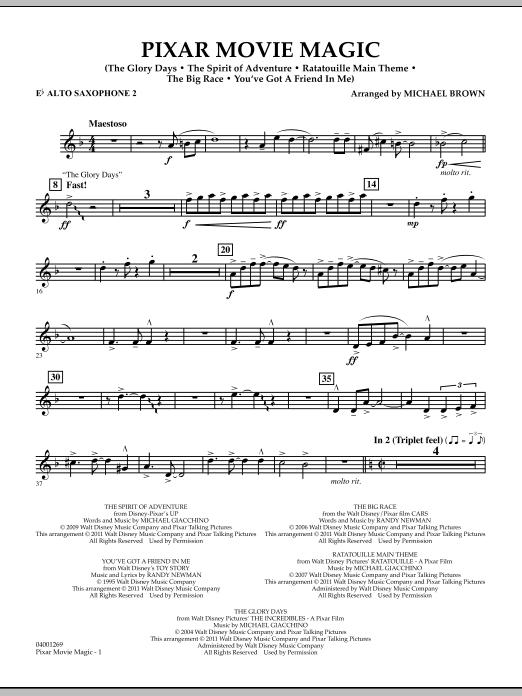 Pixar Movie Magic - Eb Alto Saxophone 2 (Concert Band)
