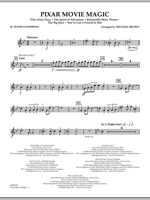Pixar Movie Magic - Bb Tenor Saxophone (Concert Band)