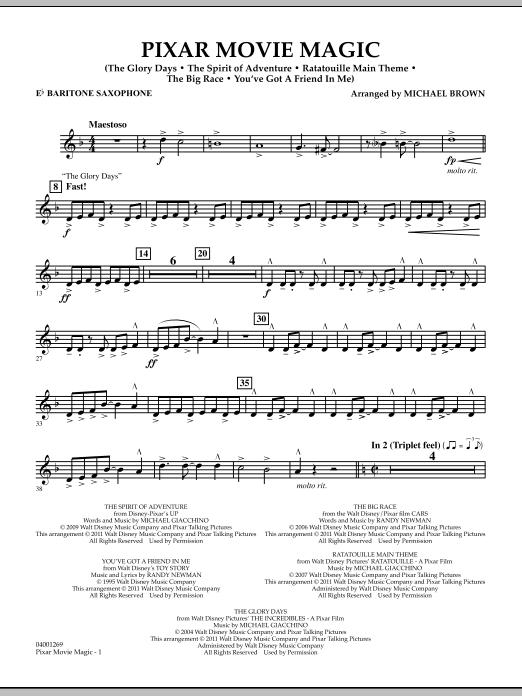 Pixar Movie Magic - Eb Baritone Saxophone (Concert Band)