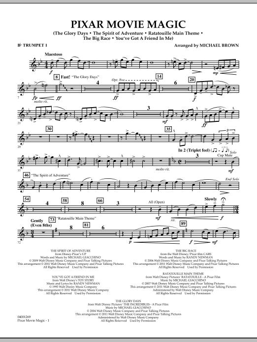 Pixar Movie Magic - Bb Trumpet 1 (Concert Band)