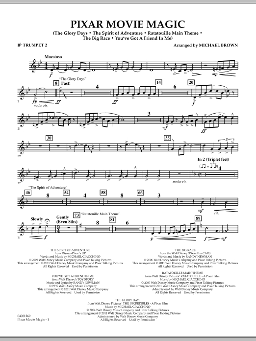 Pixar Movie Magic - Bb Trumpet 2 (Concert Band)