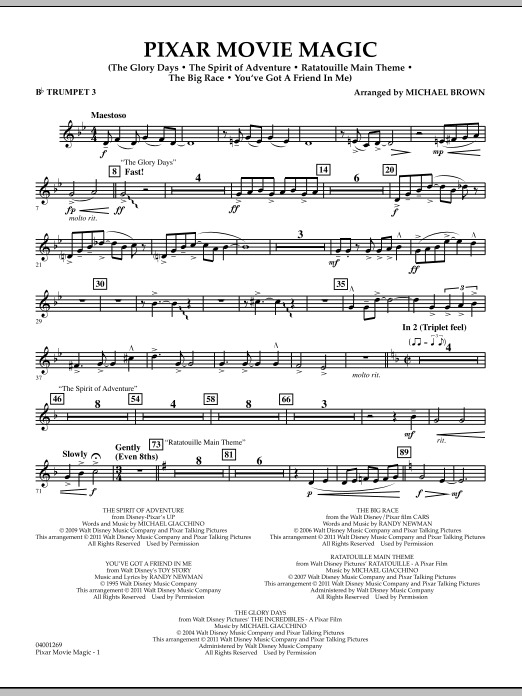 Pixar Movie Magic - Bb Trumpet 3 (Concert Band)